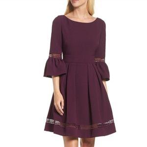 ELIZA J. Bell Sleeve Fit & Flare Dress